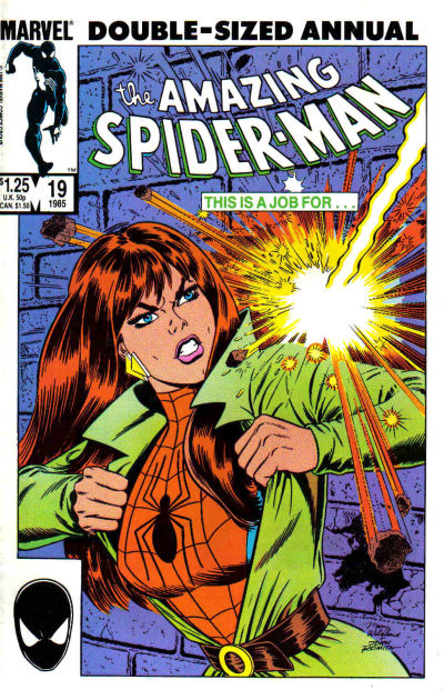 Cover for The Amazing Spider-Man Annual (Marvel, 1964 series) #19 [Direct Edition]