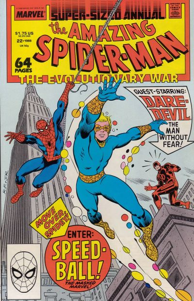 Cover for The Amazing Spider-Man Annual (Marvel, 1964 series) #22 [Direct]