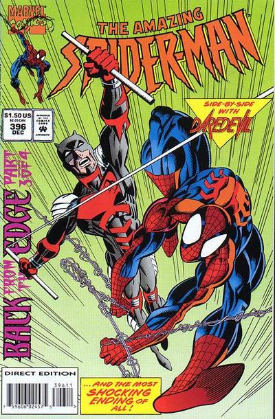 Cover for The Amazing Spider-Man (Marvel, 1963 series) #396 [Direct Edition]