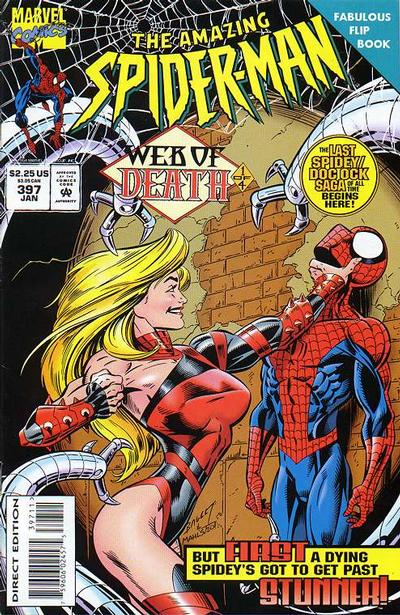 Cover for The Amazing Spider-Man (Marvel, 1963 series) #397 [Direct Edition]