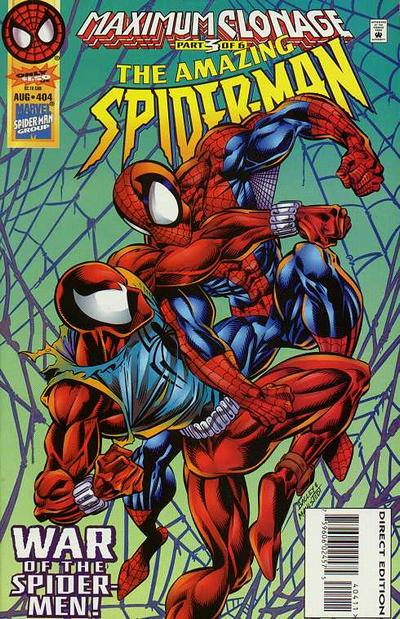 Cover for The Amazing Spider-Man (Marvel, 1963 series) #404 [Newsstand]