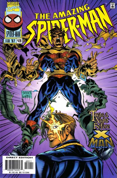 Cover for The Amazing Spider-Man (Marvel, 1963 series) #420 [Direct Edition]