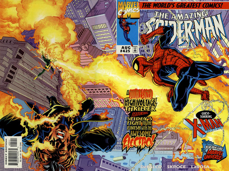 Cover for The Amazing Spider-Man (Marvel, 1963 series) #425 [Direct Edition]