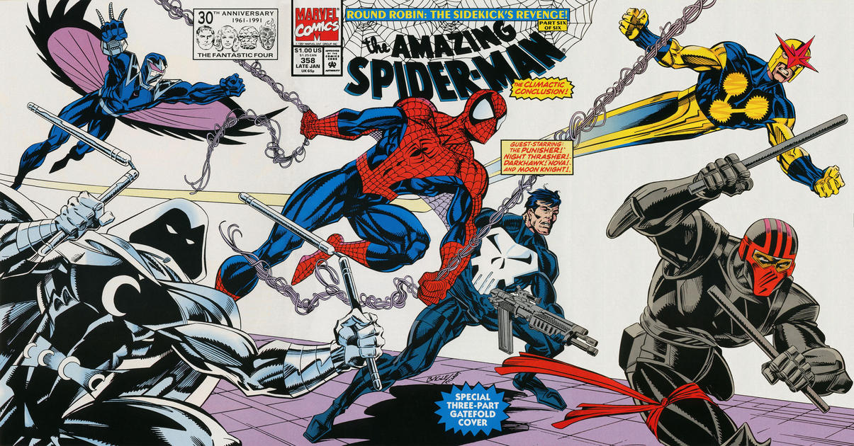 Cover for The Amazing Spider-Man (Marvel, 1963 series) #358 [Direct Edition]