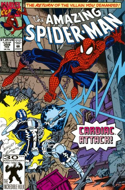 Cover for The Amazing Spider-Man (Marvel, 1963 series) #359 [Direct Edition]