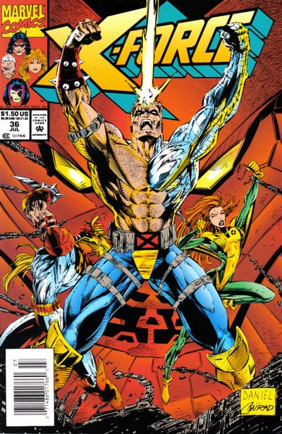 Cover for X-Force (Marvel, 1991 series) #36 [Newsstand]