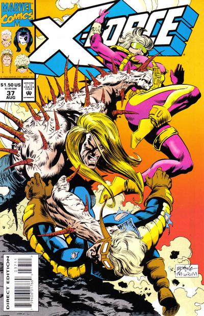 Cover for X-Force (Marvel, 1991 series) #37 [Newsstand]