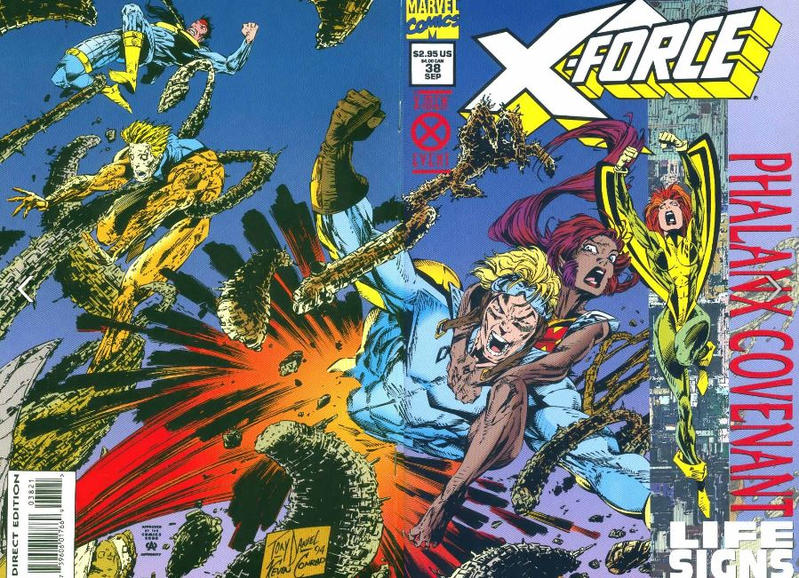 Cover for X-Force (Marvel, 1991 series) #38 [Standard Cover Edition]