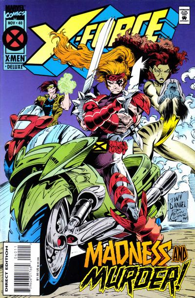 Cover for X-Force (Marvel, 1991 series) #40 [Deluxe Newsstand Edition]