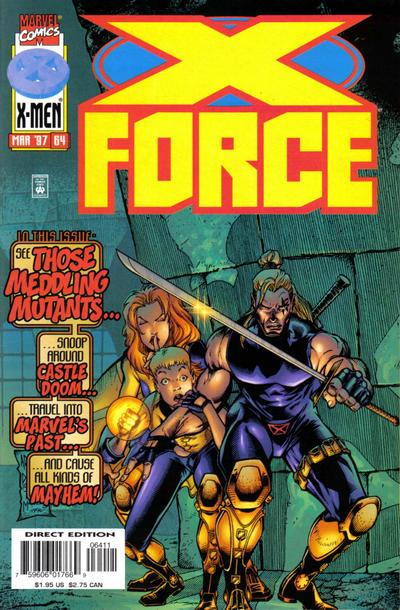Cover for X-Force (Marvel, 1991 series) #64 [Newsstand]
