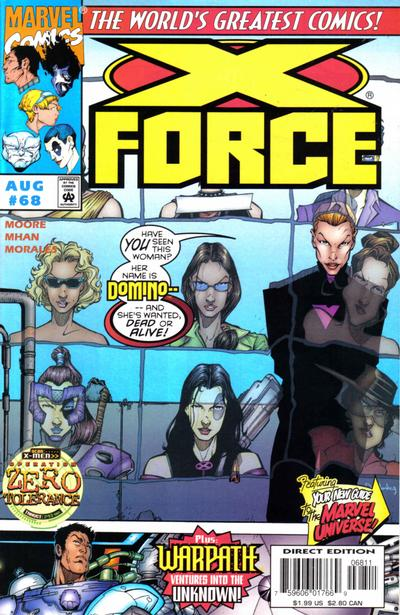 Cover for X-Force (Marvel, 1991 series) #68 [Direct Edition]