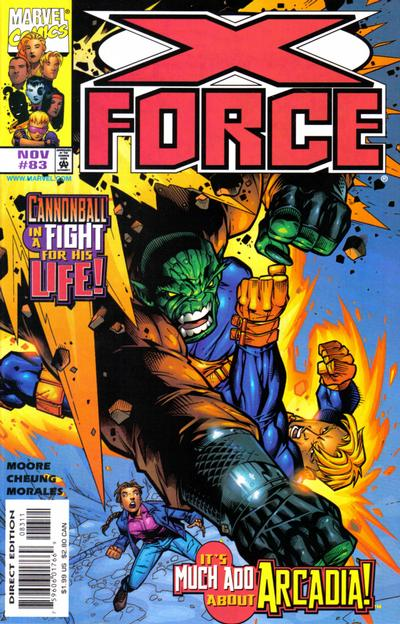 Cover for X-Force (Marvel, 1991 series) #83 [Direct Edition]