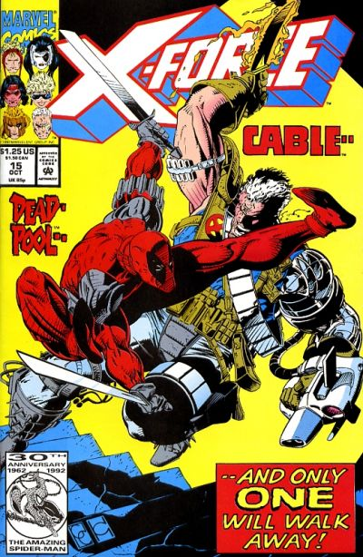 Cover for X-Force (Marvel, 1991 series) #15 [Newsstand]