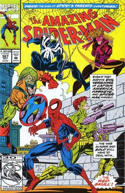 Cover for The Amazing Spider-Man (Marvel, 1963 series) #367 [Direct Edition]