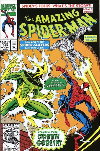 Cover for The Amazing Spider-Man (Marvel, 1963 series) #369 [Direct Edition]