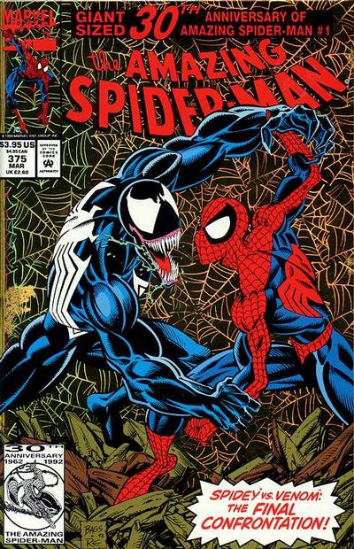 Cover for The Amazing Spider-Man (Marvel, 1963 series) #375 [Newsstand Edition]