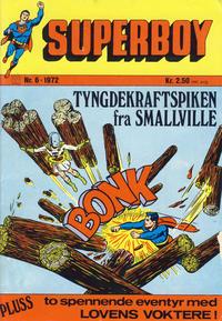 Cover Thumbnail for Superboy (Illustrerte Klassikere / Williams Forlag, 1969 series) #6/1972