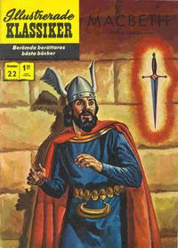Cover Thumbnail for Illustrerade klassiker (Williams Förlags AB, 1965 series) #22 [HBN 199] (3:e upplagan) - MacBeth