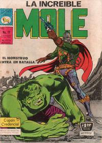 Cover Thumbnail for La Increible Mole (Editora de Periódicos La Prensa S.C.L., 1969 series) #11