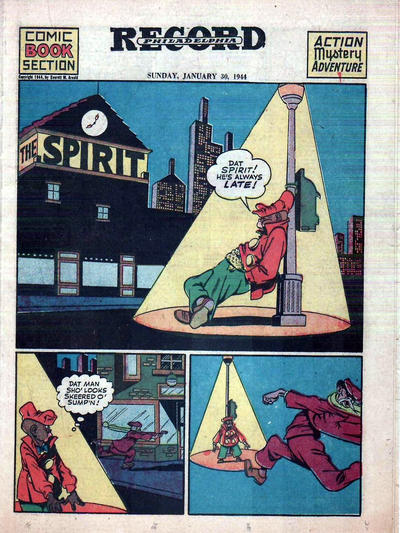 Cover for The Spirit (Register and Tribune Syndicate, 1940 series) #1/30/1944