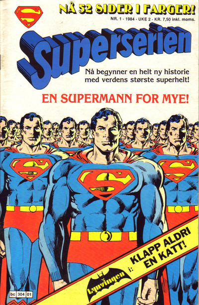 Cover for Superserien (Semic, 1982 series) #1/1984