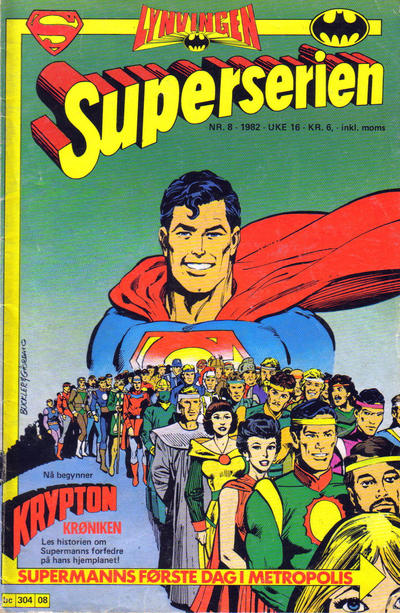 Cover for Superserien (Semic, 1982 series) #8/1982