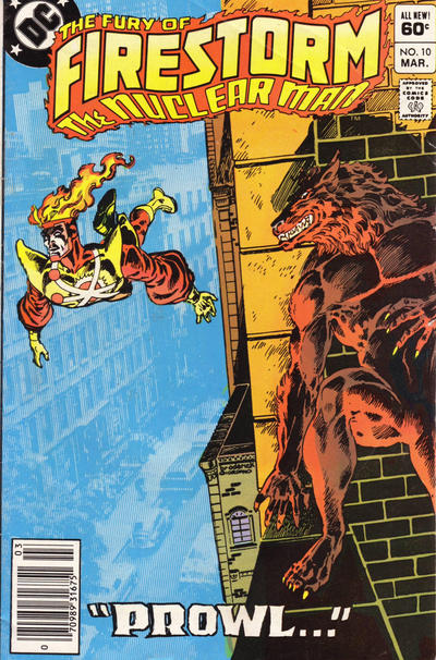 Cover for The Fury of Firestorm (DC, 1982 series) #10 [Newsstand]
