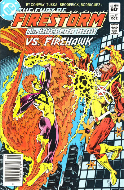 Cover for The Fury of Firestorm (DC, 1982 series) #17 [Direct Edition]