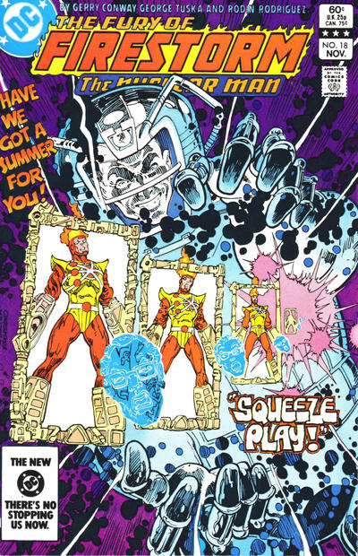 Cover for The Fury of Firestorm (DC, 1982 series) #18 [Direct]