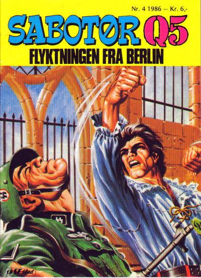 Cover for Sabotør Q5 (Serieforlaget / Se-Bladene / Stabenfeldt, 1971 series) #4/1986