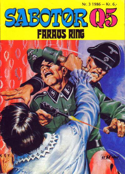 Cover for Sabotør Q5 (Serieforlaget / Se-Bladene / Stabenfeldt, 1971 series) #3/1986