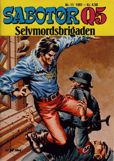 Cover for Sabotør Q5 (Serieforlaget / Se-Bladene / Stabenfeldt, 1971 series) #11/1981