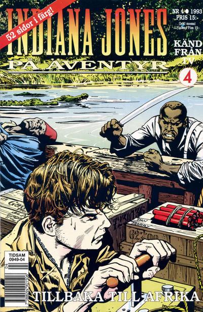 Cover for Indiana Jones på äventyr (Semic, 1993 series) #4/1993