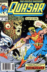 Cover Thumbnail for Quasar (Marvel, 1989 series) #2 [Newsstand]