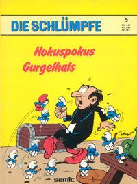 Cover Thumbnail for Die Schlümpfe (Carlsen Comics [DE], 1982 series) #5 - Hokuspokus Gurgelhals