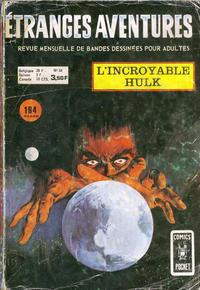 Cover Thumbnail for Etranges Aventures (Arédit-Artima, 1966 series) #34