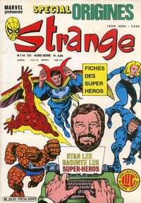 Cover Thumbnail for Strange Spécial Origines (Editions Lug, 1981 series) #139