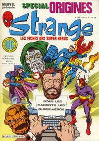 Cover Thumbnail for Strange Spécial Origines (Editions Lug, 1981 series) #172