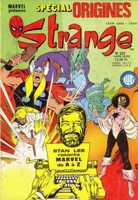 Cover Thumbnail for Strange Spécial Origines (Editions Lug, 1981 series) #223