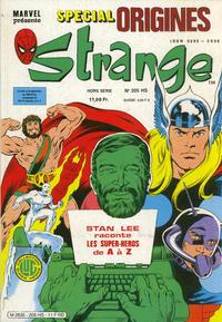 Cover Thumbnail for Strange Spécial Origines (Editions Lug, 1981 series) #205