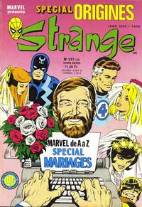 Cover Thumbnail for Strange Spécial Origines (Editions Lug, 1981 series) #217