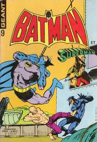 Cover Thumbnail for Batman et Superman Géant (Sage - Sagédition, 1976 series) #9