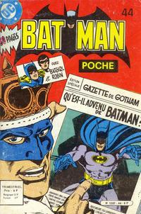 Cover Thumbnail for Batman Poche (Sage - Sagédition, 1976 series) #44
