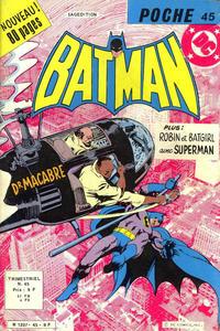 Cover Thumbnail for Batman Poche (Sage - Sagédition, 1976 series) #45