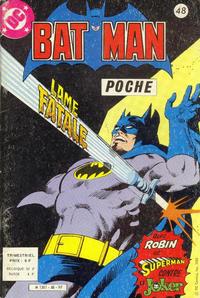 Cover Thumbnail for Batman Poche (Sage - Sagédition, 1976 series) #48