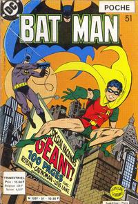 Cover Thumbnail for Batman Poche (Sage - Sagédition, 1976 series) #51