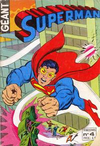 Cover Thumbnail for Superman Géant (Sage - Sagédition, 1979 series) #4