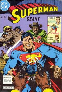 Cover Thumbnail for Superman Géant (Sage - Sagédition, 1979 series) #27