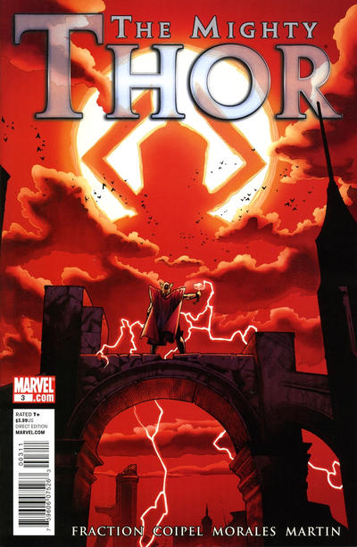 Cover for The Mighty Thor (Marvel, 2011 series) #3 [I Am Captain America Variant]
