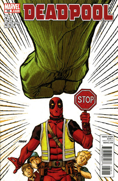 Cover for Deadpool (Marvel, 2008 series) #39 [I Am Captain America Variant]